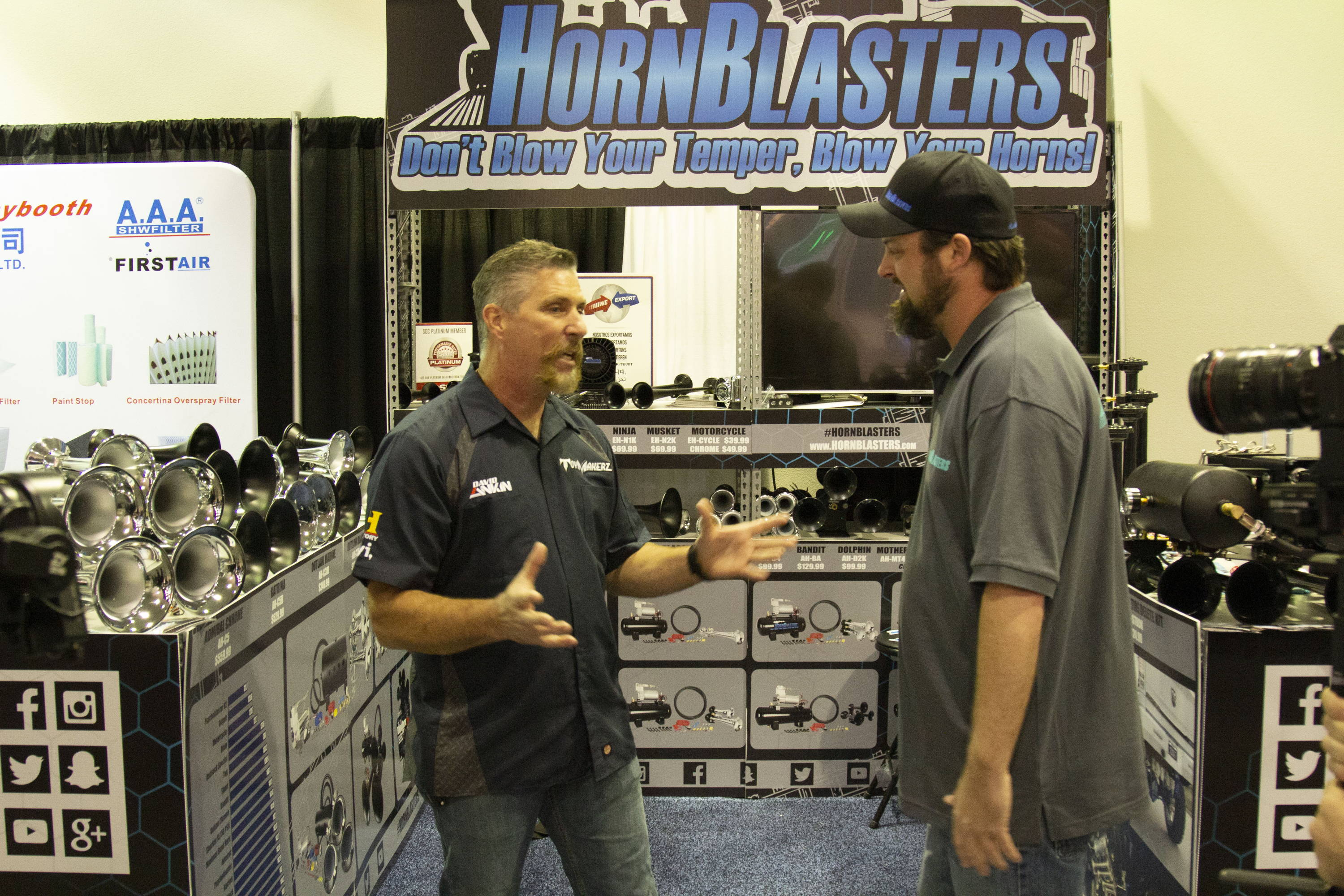 HornBlasters Sema Booth Celebrity David from Toy Makerz