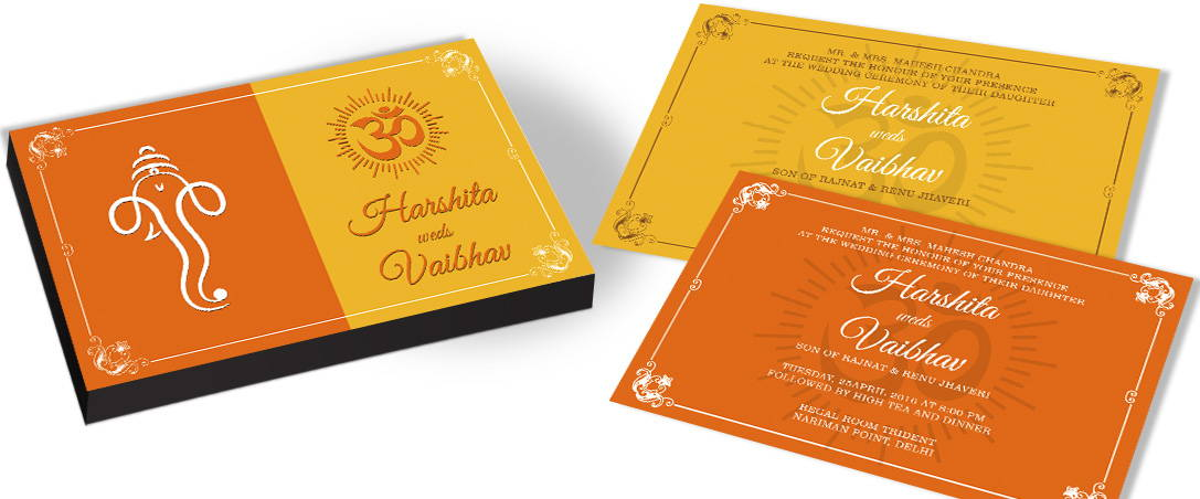 Hindu Traditional Marriage Invitation