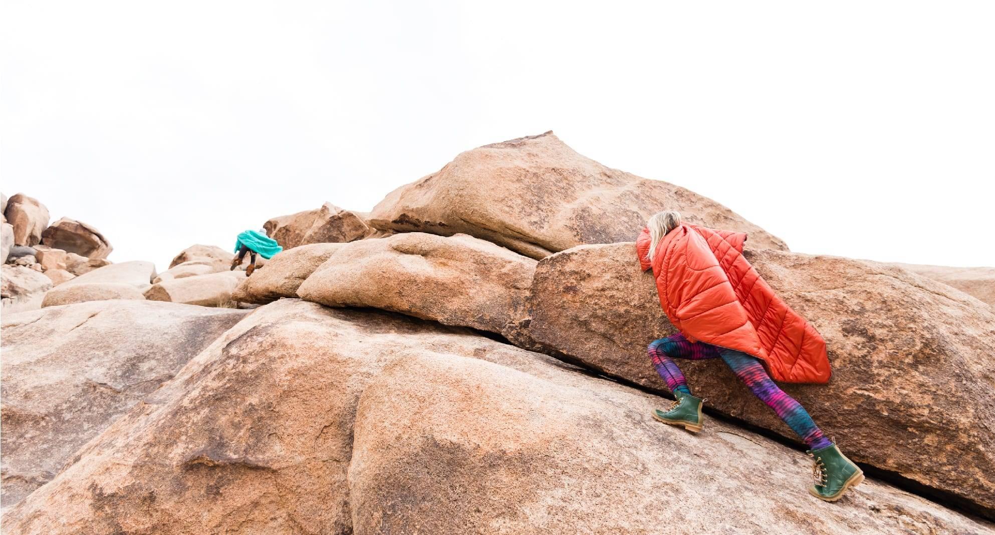 Bouldering with Rumpl