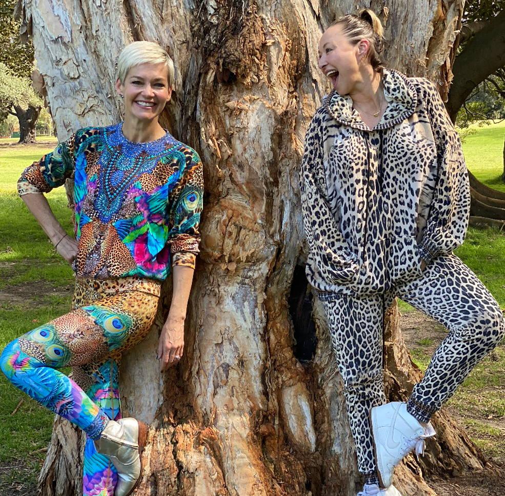 CAMILLA and Jessice Row in CAMILLA mother xanadu zenwear and jaguar leopard print sets.