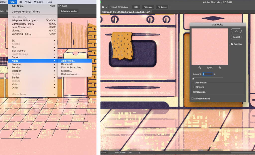 How to add subtle noise and texture in Photoshop