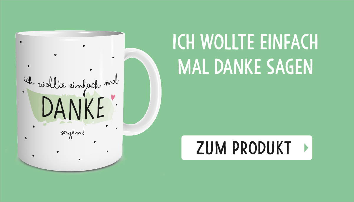 Beliebteste Produkte Tasse danke sagen