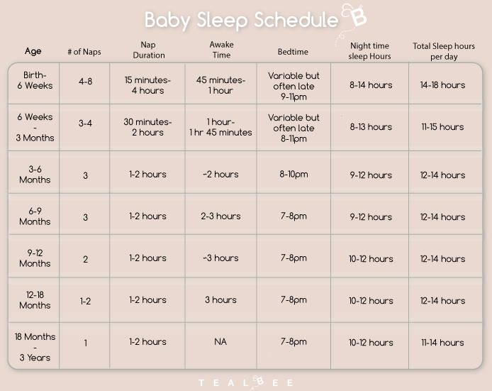 02cc48dc6 Baby Sleep Schedule - Sleep Duration