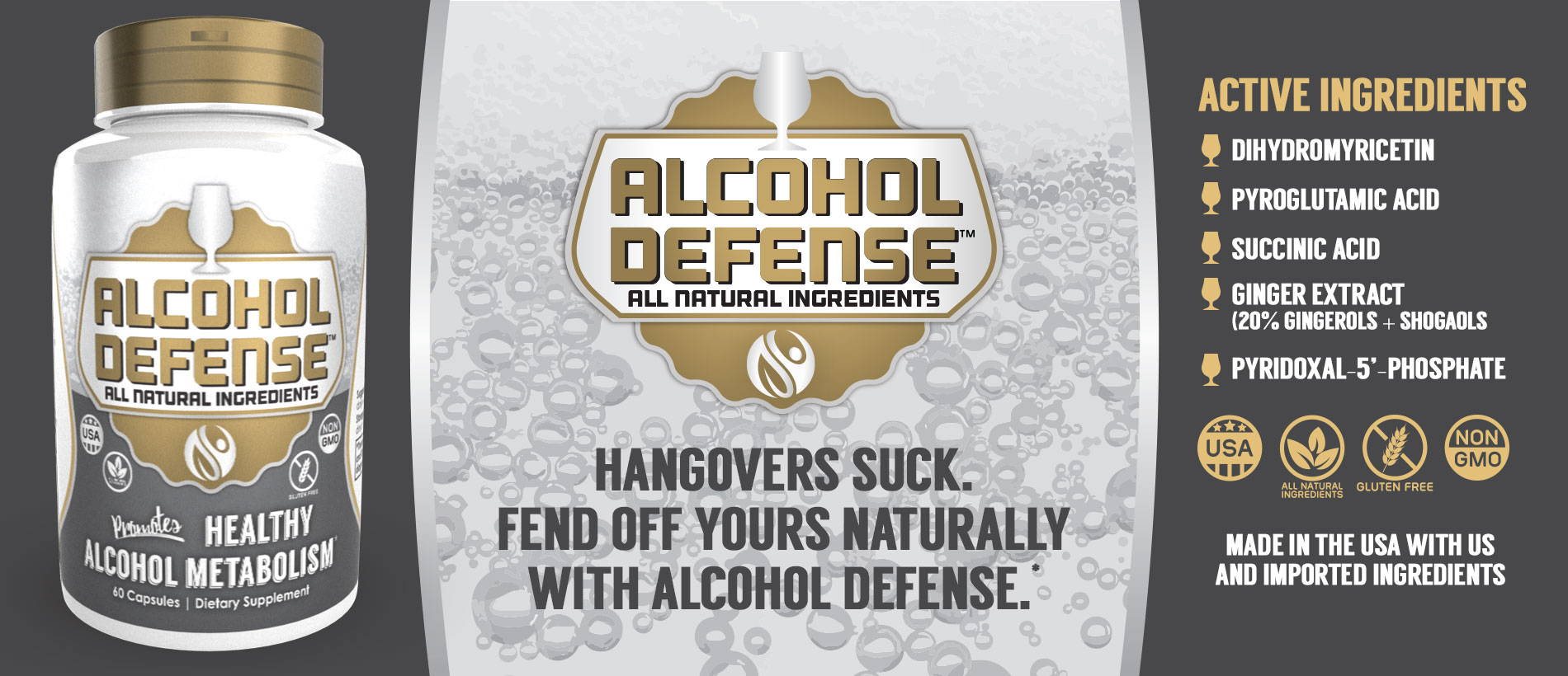 Alcohol Defense Capsules   Anti Hangover Supplement