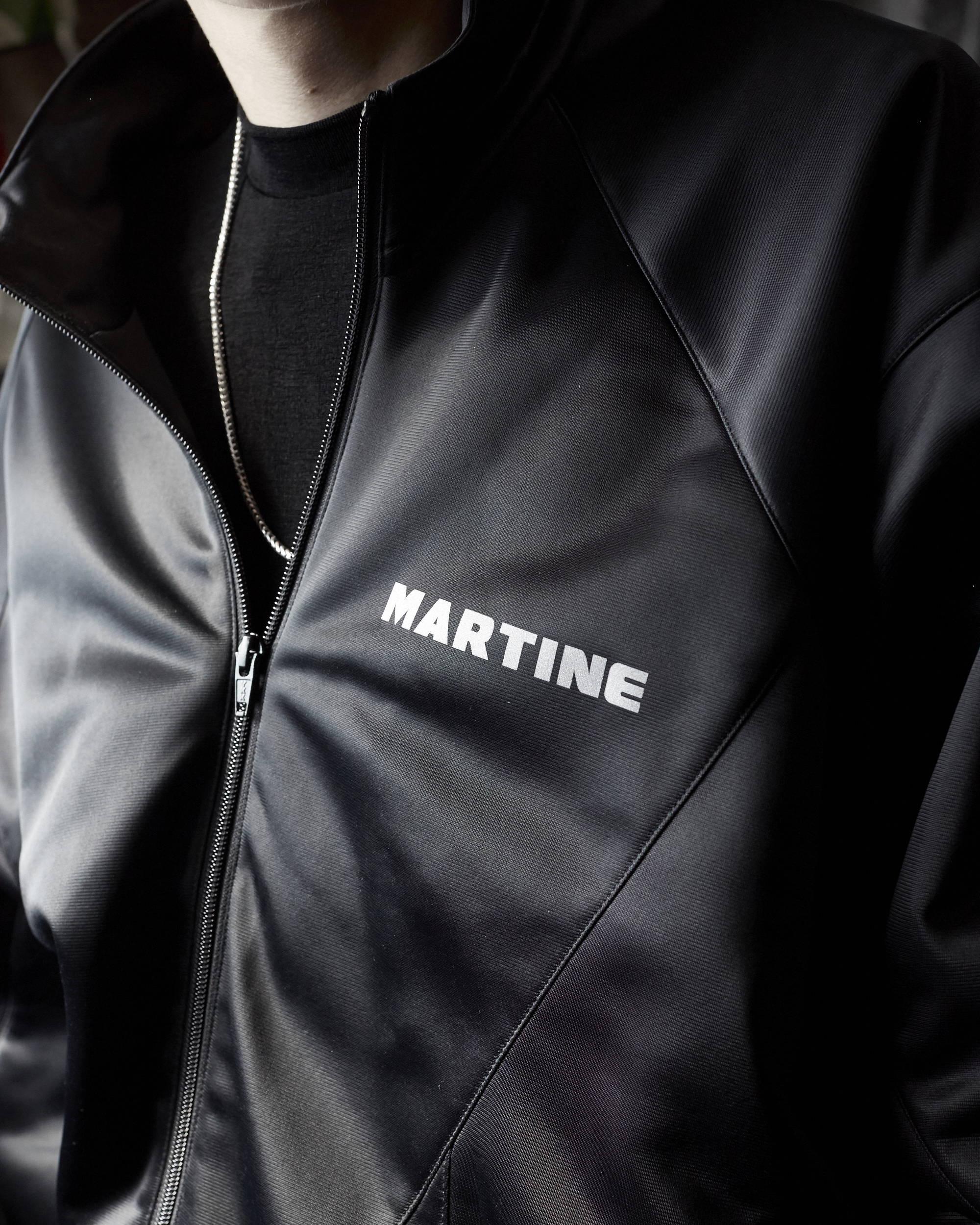 Martine Rose FW18 Twisted Black Track Jacket Print Detail - Hlorenzo