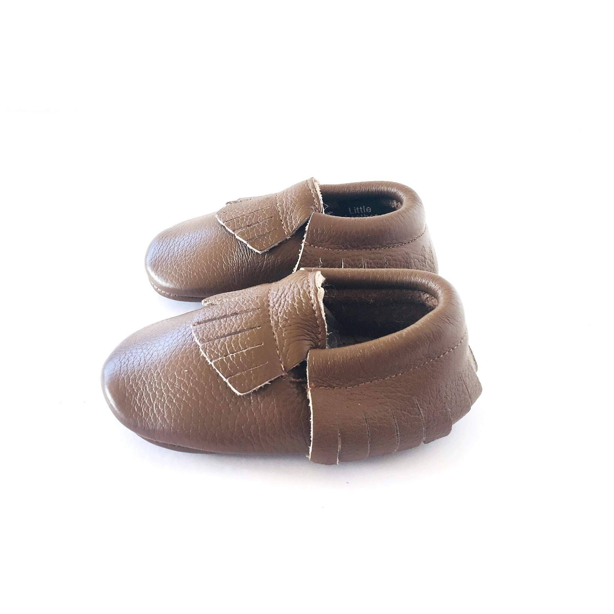 Chocolate Brown colour soft sole shoes with fringe