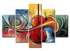 MultiPiece, Multi Panel Guitar Painting