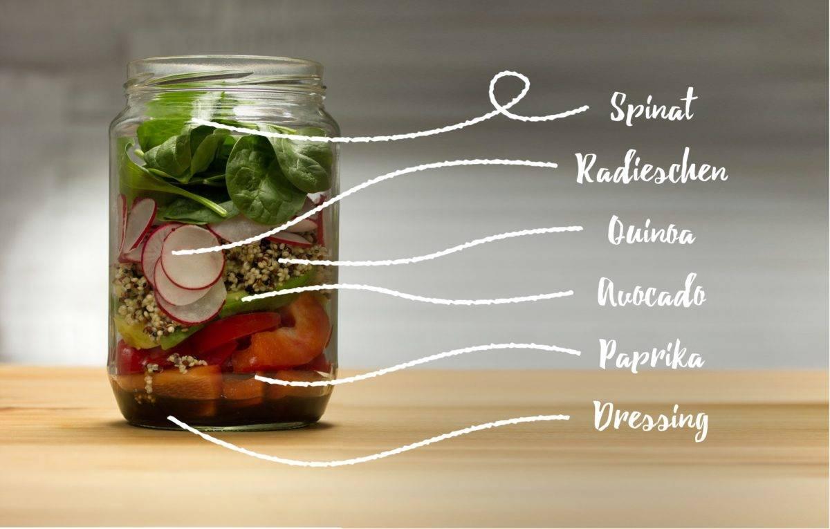 Salat im Glas - Rezeptvorschlag 2