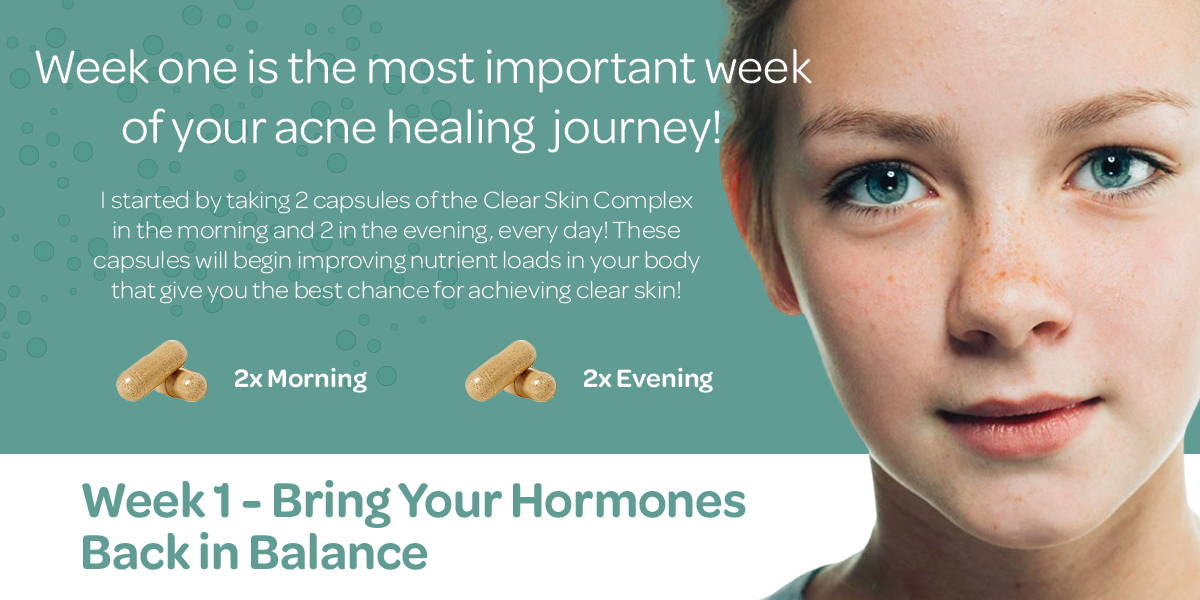 Week one is the most important week of your acne healing journey!