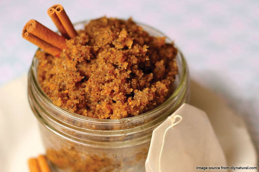 jar of spiced sugar scrub