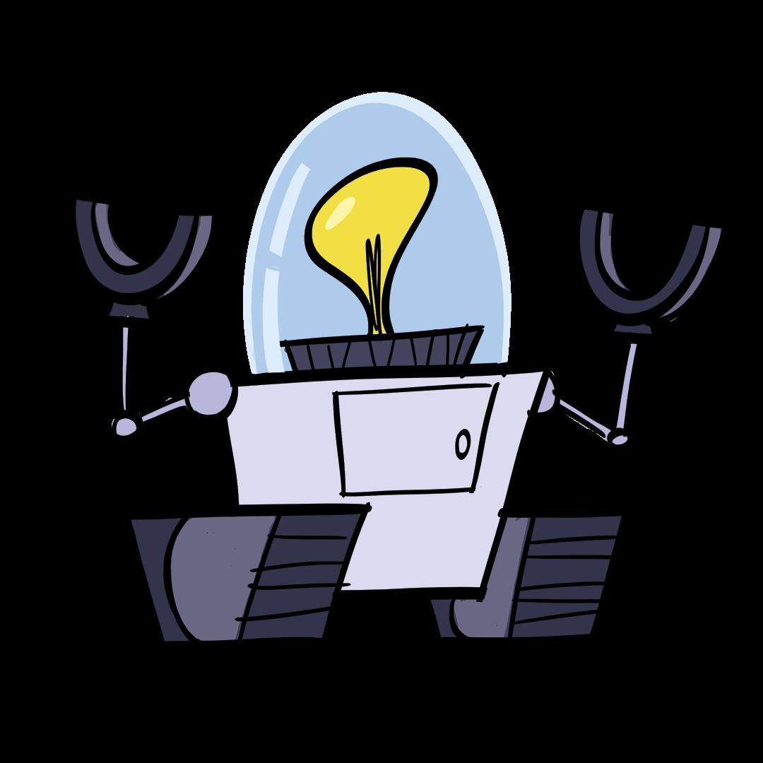 illustrated robot