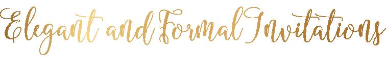 Elegant and Formal Wedding Invitations
