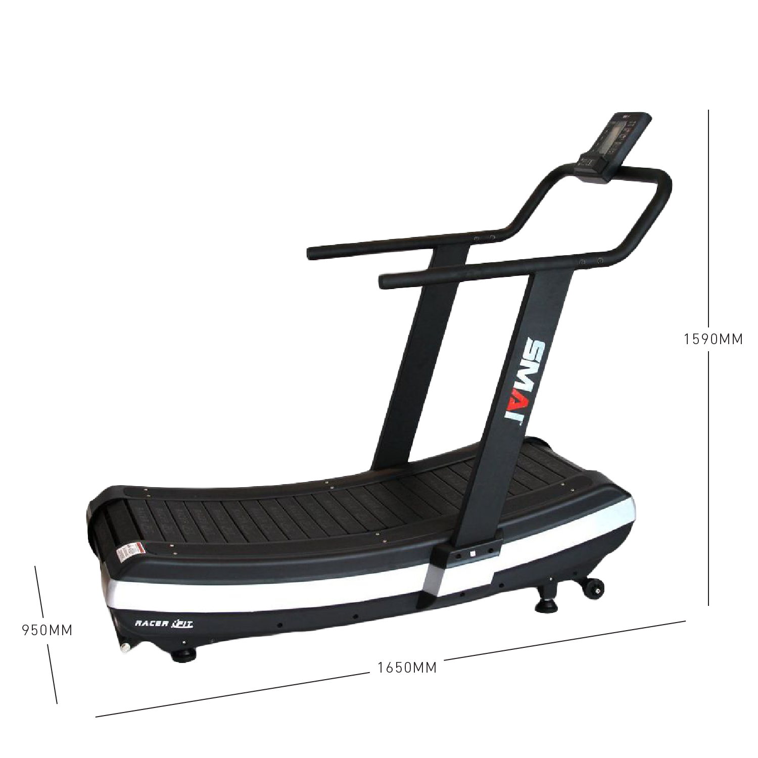 SMAI RacerFit Curved Treadmill Dimensions