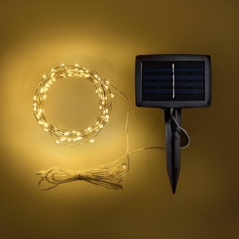 LED Micro Solar Lichterkette mit Solarpanel.