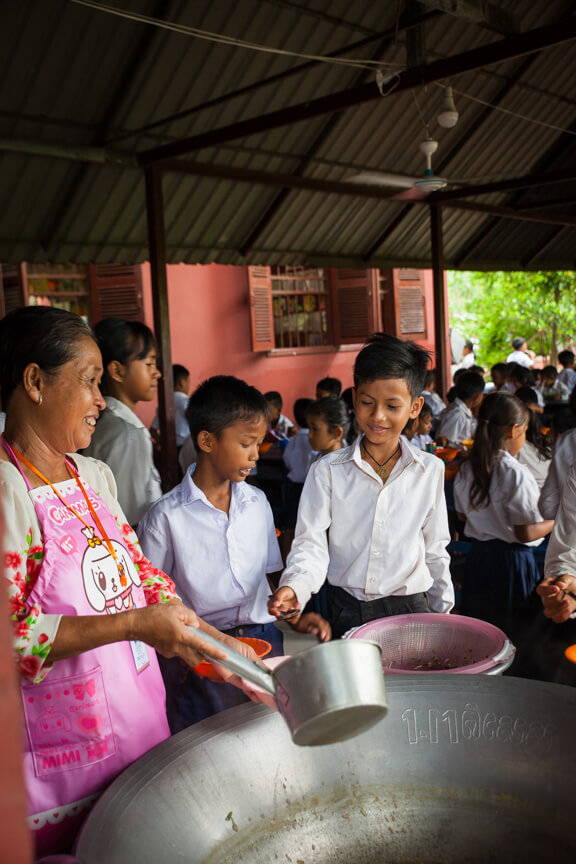 Cambodian Children Receive 2 Meals a Day for a year with Every Travel Backpack