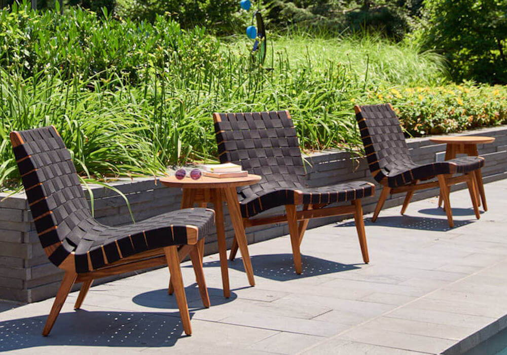 Knoll Risom Outdoor Lounge Chair