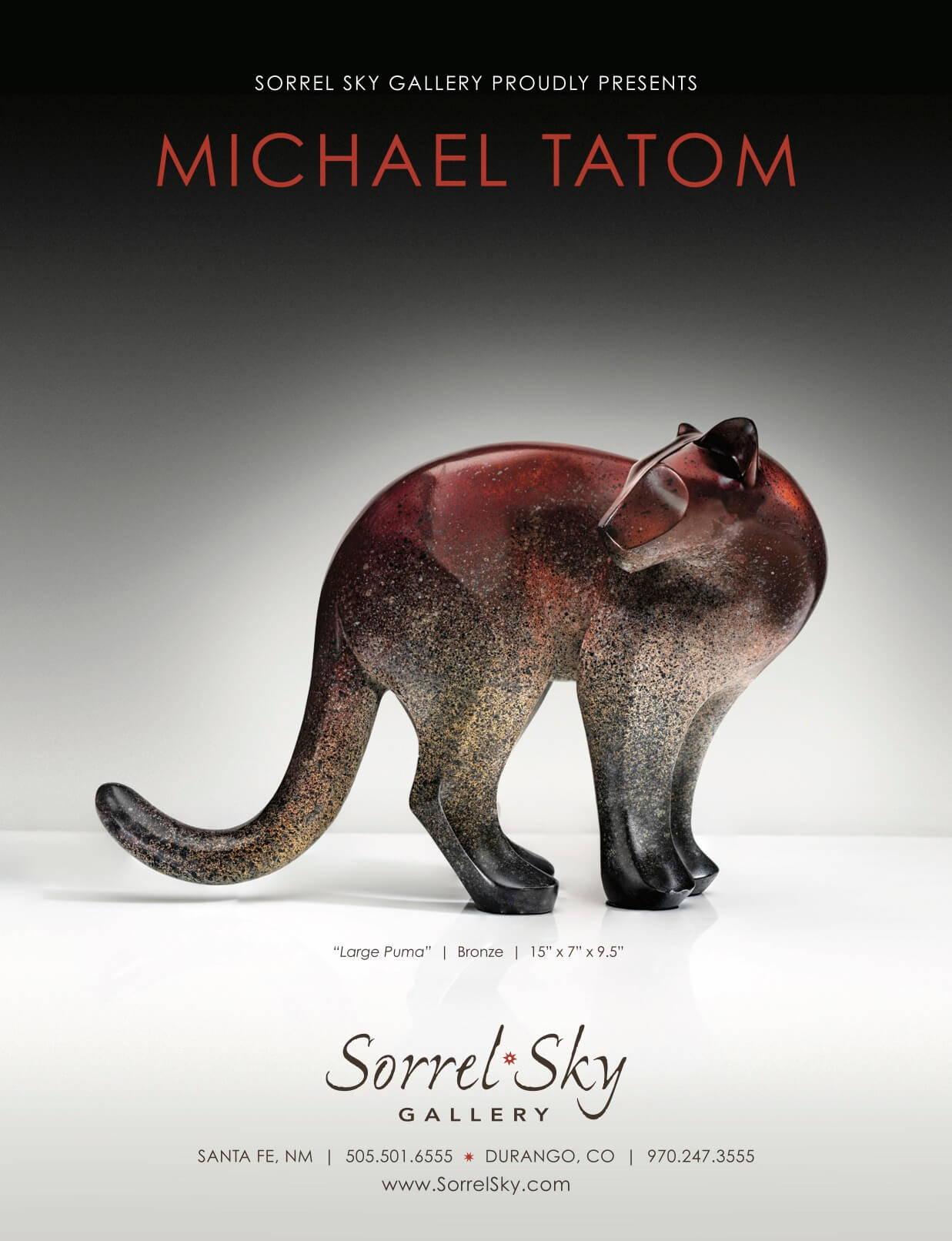 Michael Tatom. Santa Fe Art Gallery. Bronze Sculpture. Monumental Sculpture. Sorrel Sky Gallery.
