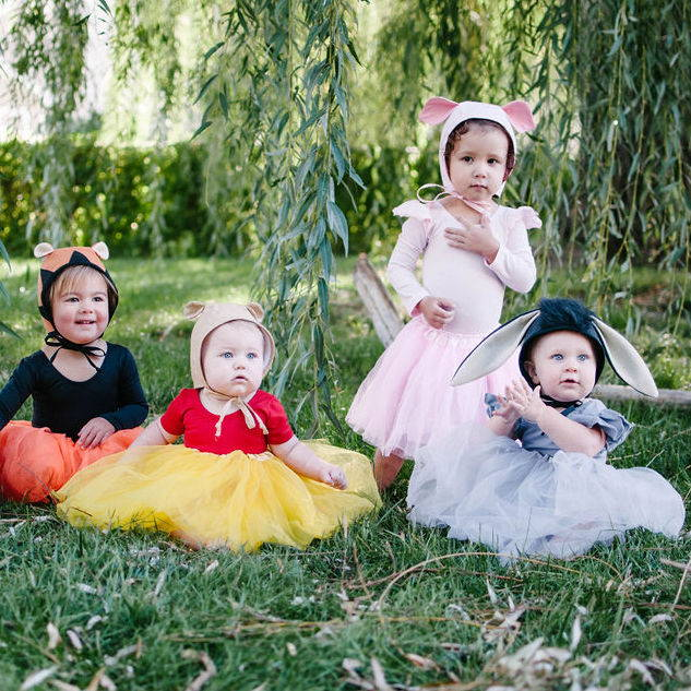 79c6a9d5d57f Girls Costumes Winnie the Pooh and Friends Group Halloween Costume ...