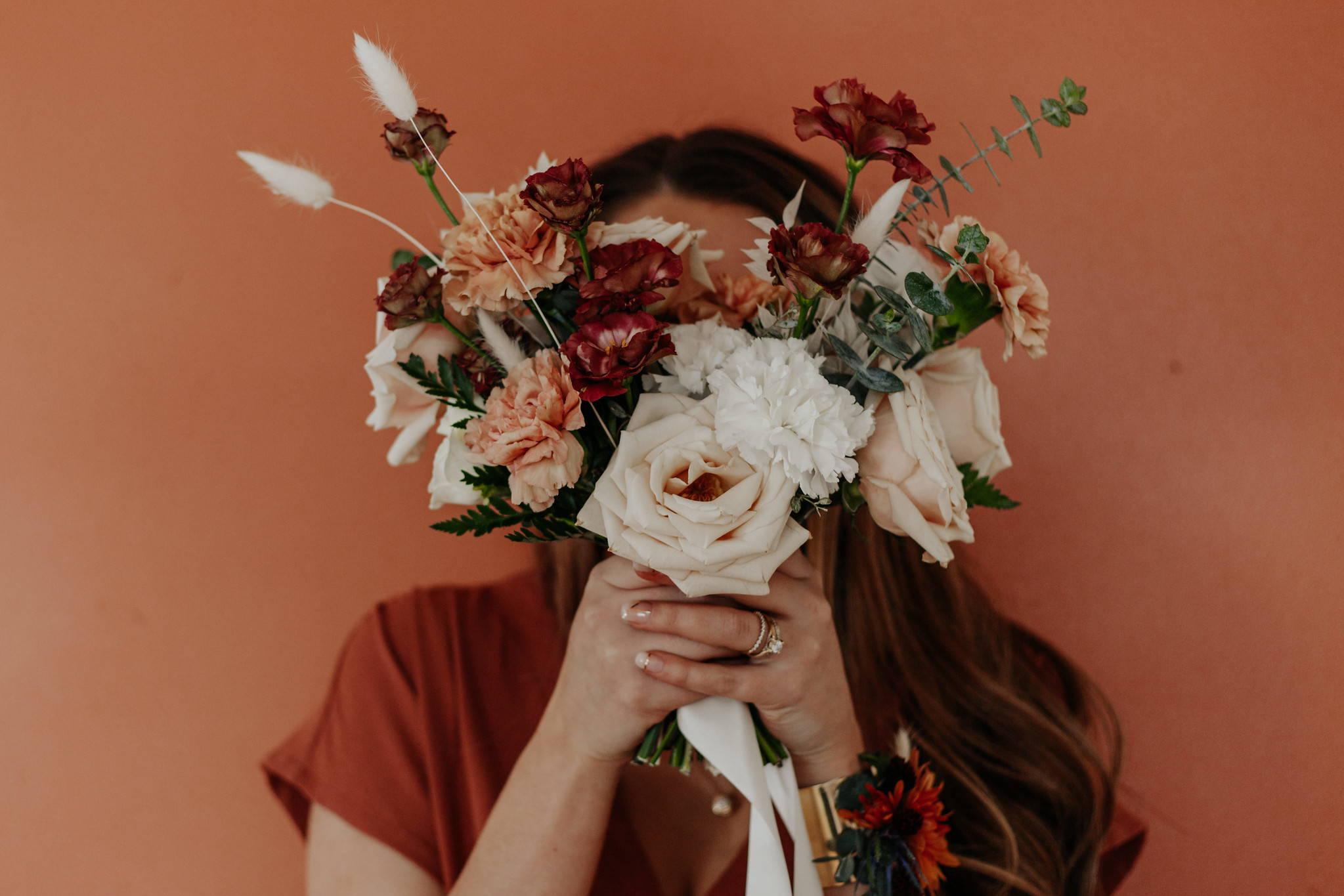 Canyon Rose neutral bridal bouquet