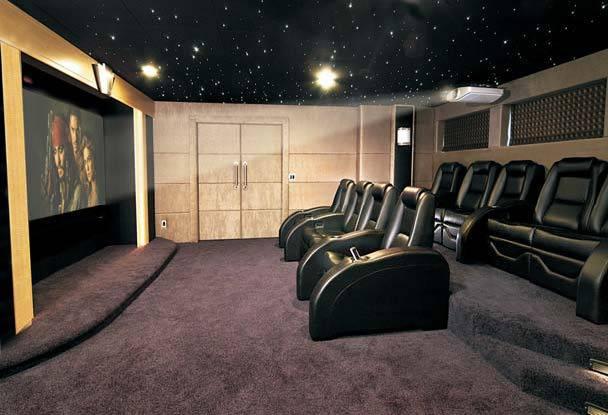 beautiful home entertainment star ceiling ideas
