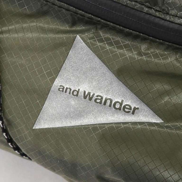 andwander(アンドワンダー)/シル ウエストバッグ/グレー/UNISEX