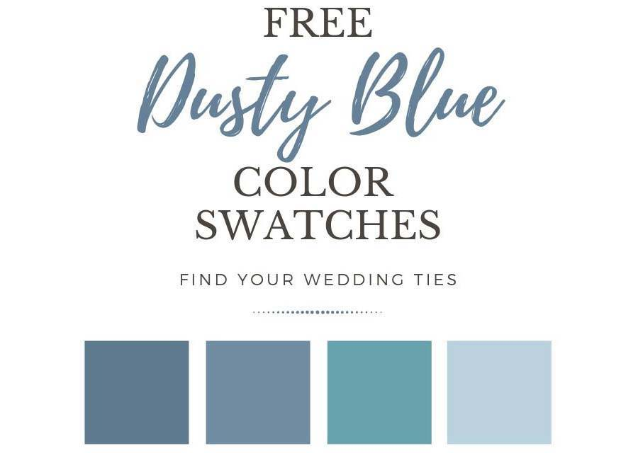 Dusty blue color swatches