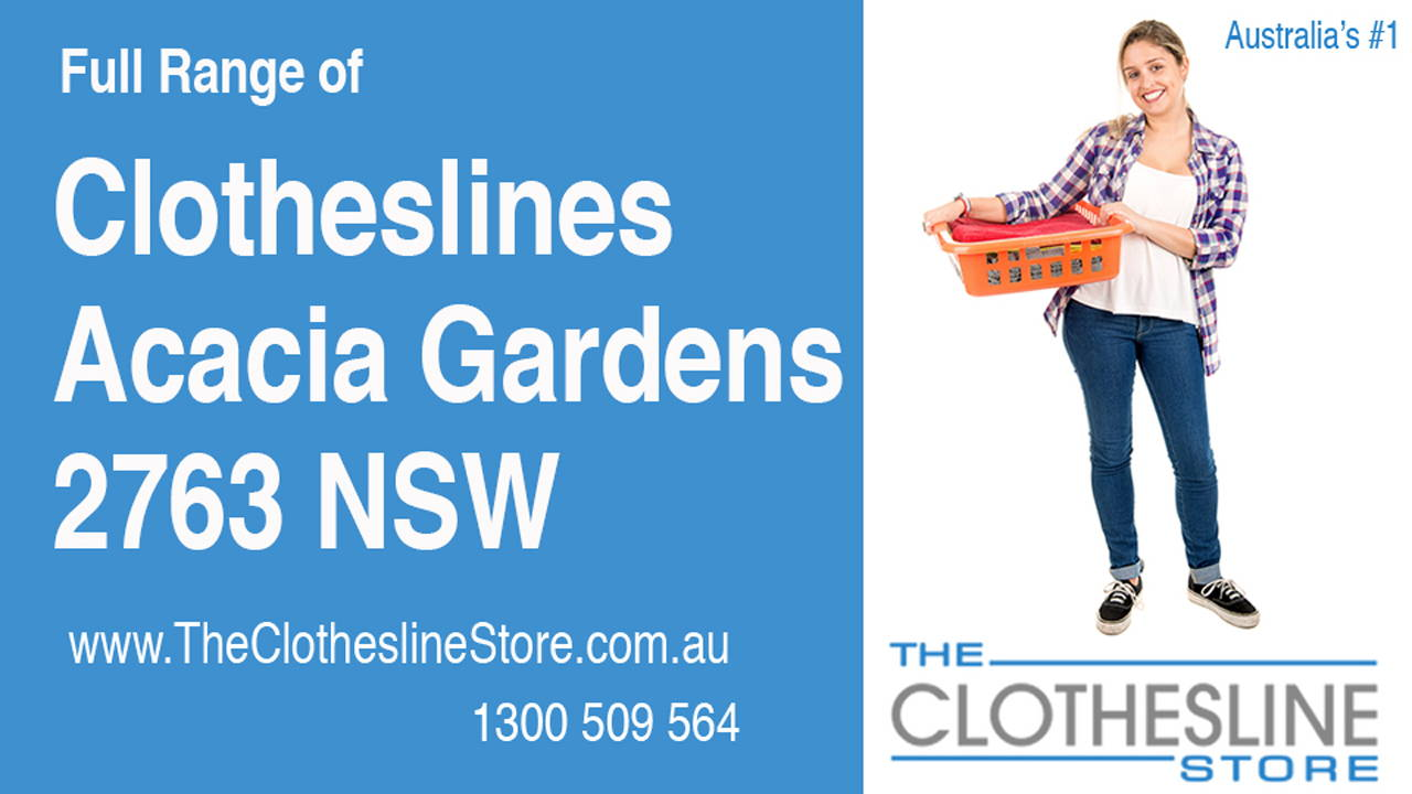 New Clotheslines in Acacia Gardens 2763 NSW