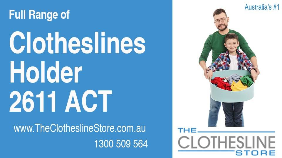 New Clotheslines in Holder ACT 2611