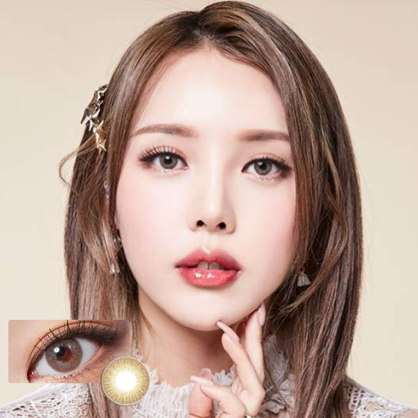 SHOP Lenstown Glossy Mood Brown Color Contacts