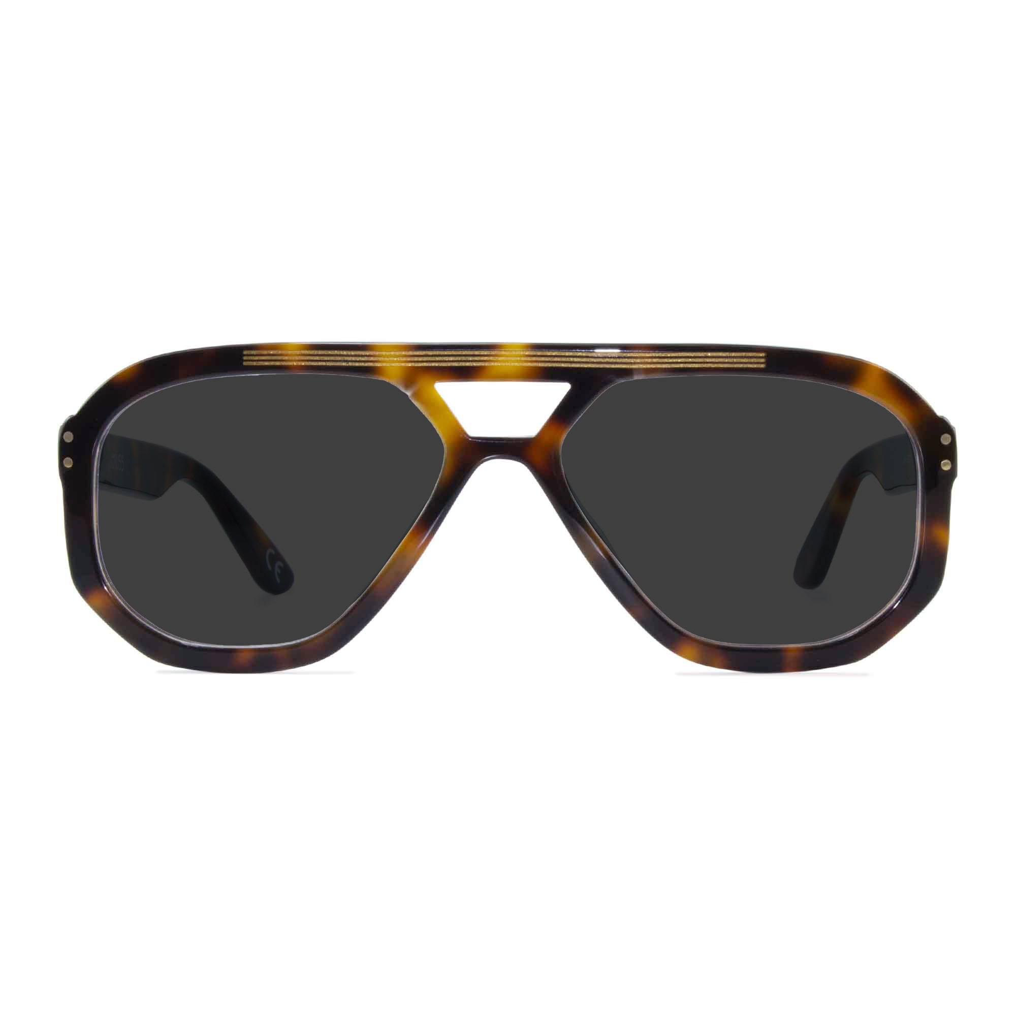 Joiuss jim tortoiseshell navigator sunglasses