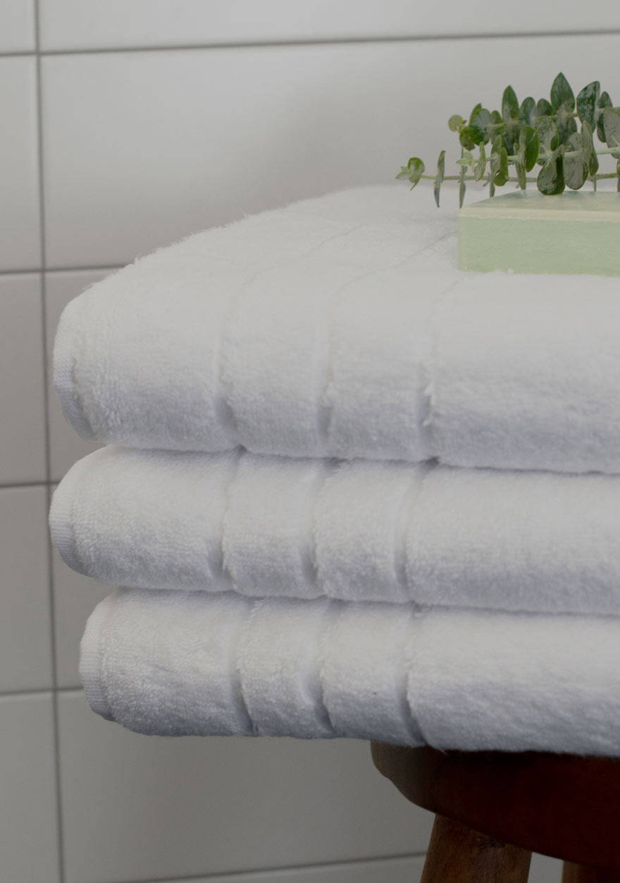 These are the softest towels you'll ever use. Every time I wash them they get even softer if that is possible. I feel like I am at the spa every morning.