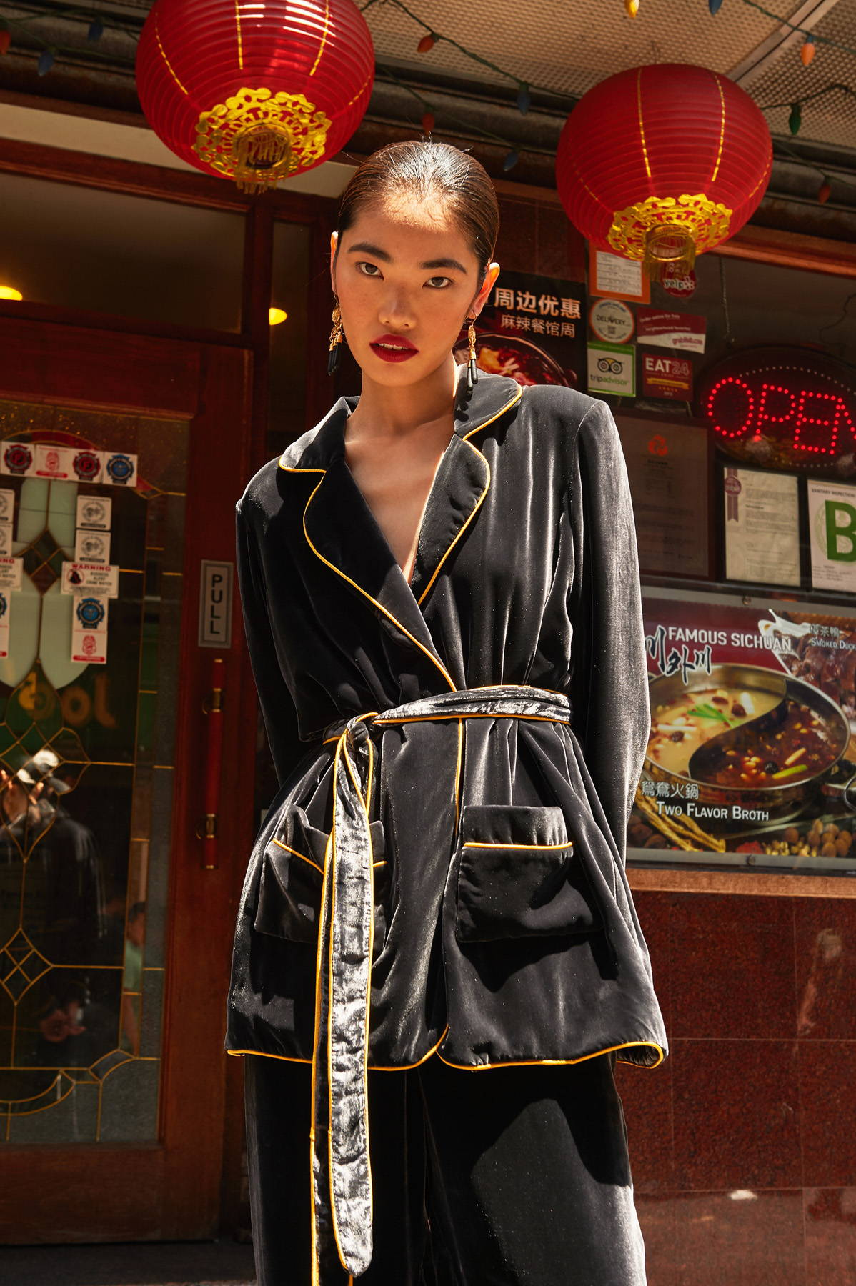 Flying Solo Independent Designers New York City L'Officiel Austrailia Photoshoot editorial Weannabe Velvet Robe