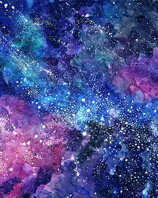 galaxy night pop art background