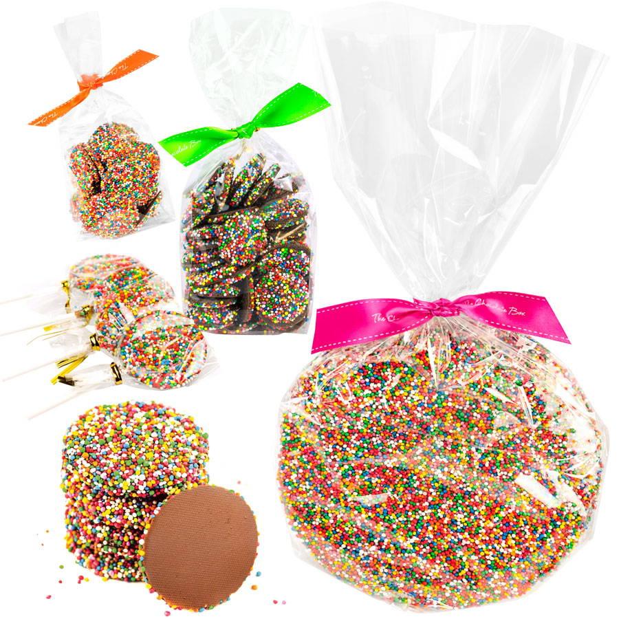 Large Sparkle 250g, Sparkle dark chocolate bag 300g, milk chocolate sparkle bag 150g, Sparkle Lollipops