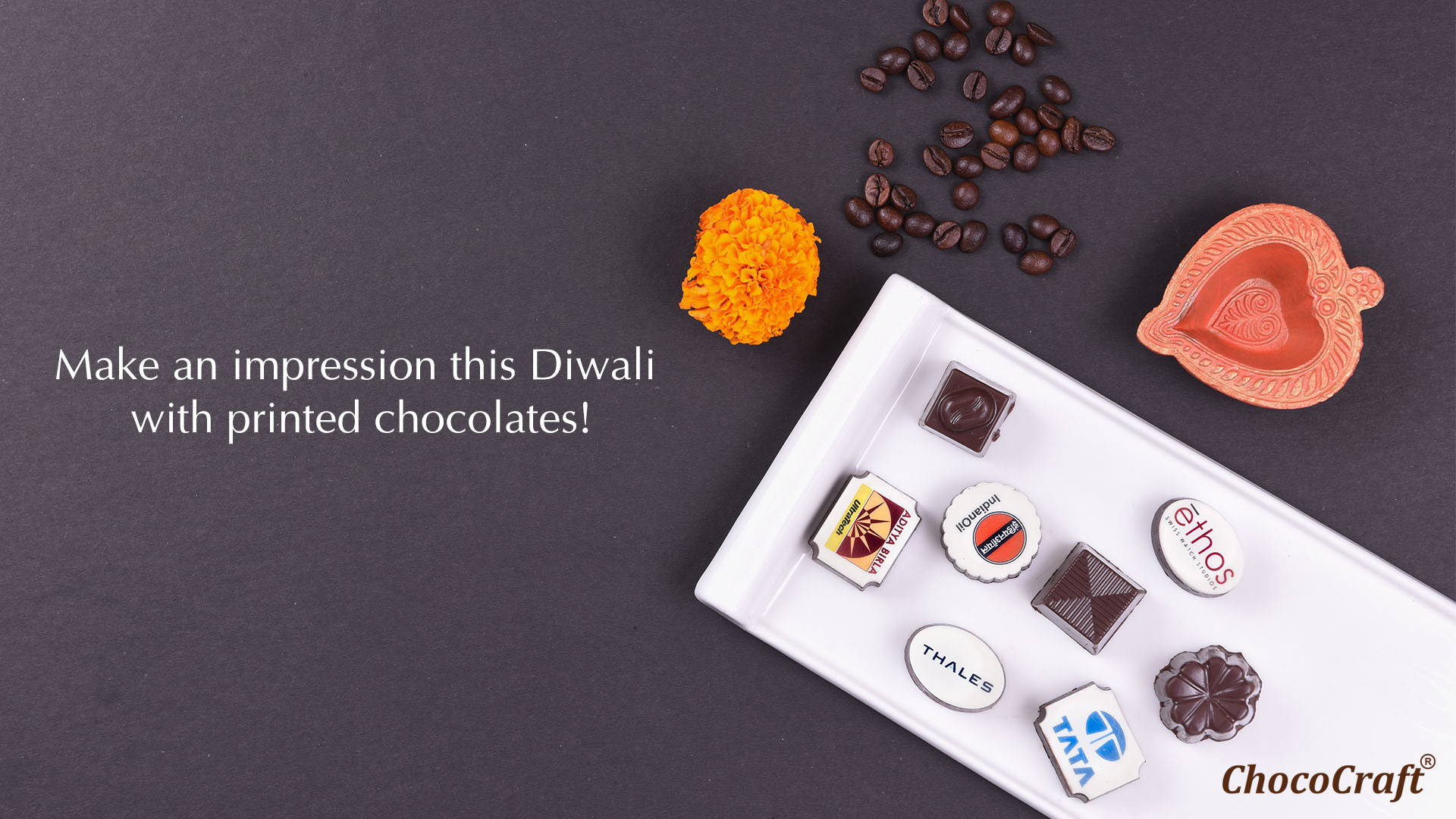Diwali Gifts for Clients with Printed Chocolates Banner (Desktop)