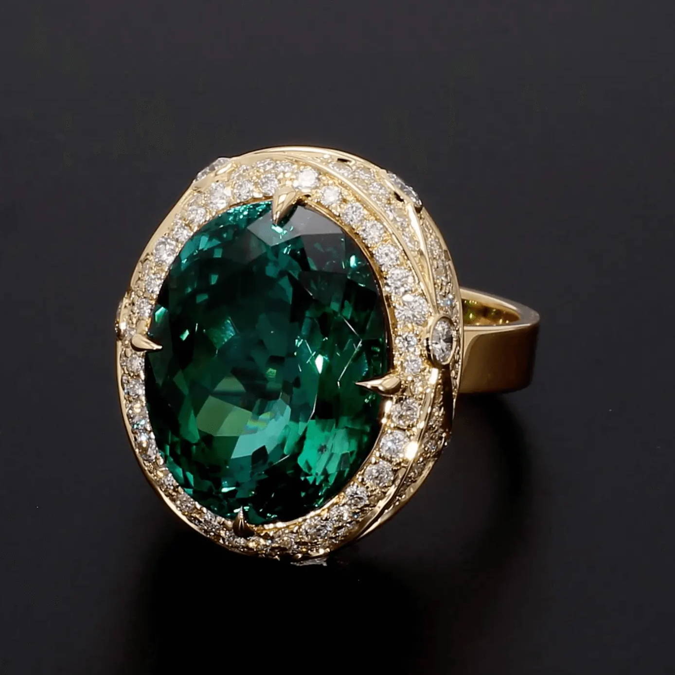 one of a kind tourmaline ring