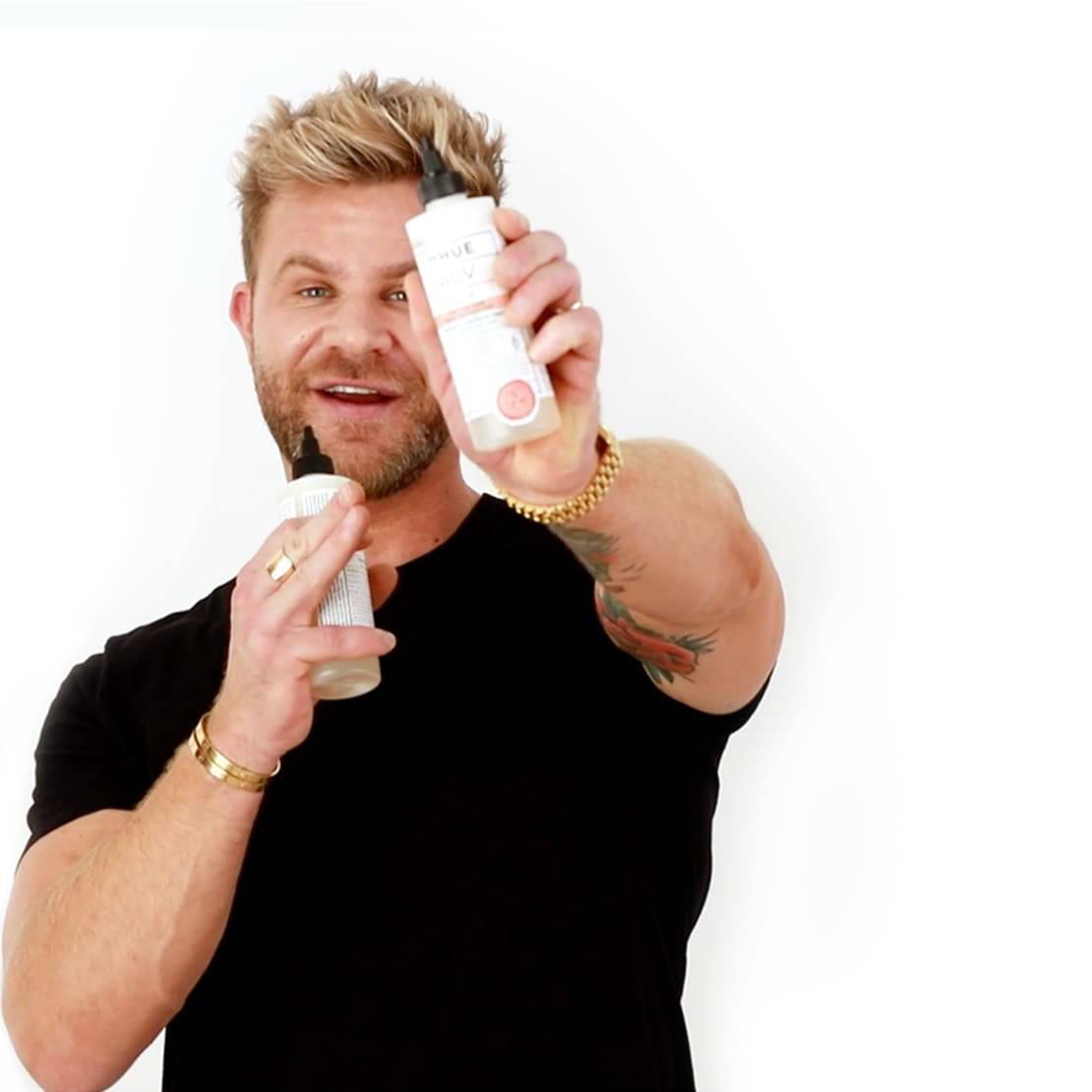 Justin holding ACV Lite