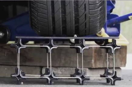 Strong wine rack under car