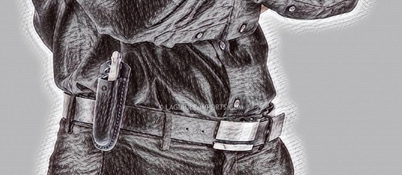 Code38 Leather Belt Holster