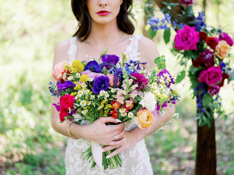 Wildflower Bridal Bouquet.  DIY Wildflower Kit by Flower Moxie.  Bulk online wholesale florals for DIY wedding flowers.