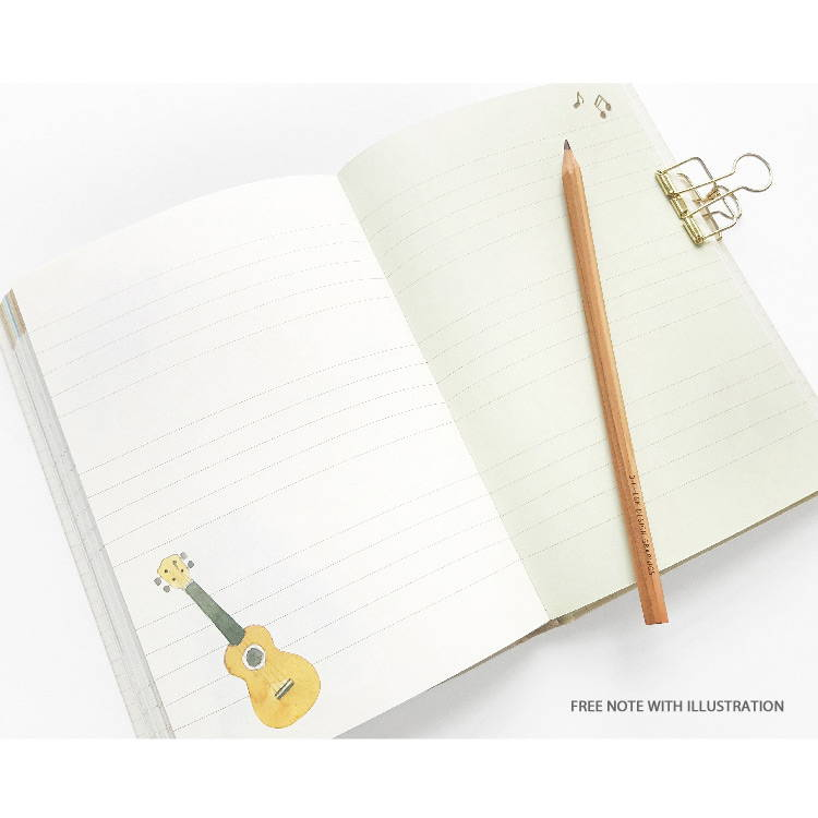 Free note - O-CHECK 2020 Shiny days hardcover dated weekly diary planner