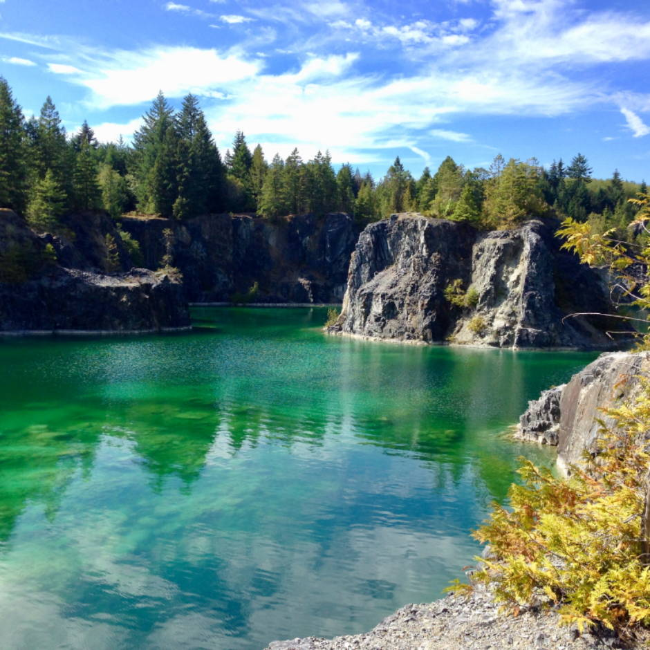 Beautiful Heischolt Lakes, Texada Island, British Columbia.