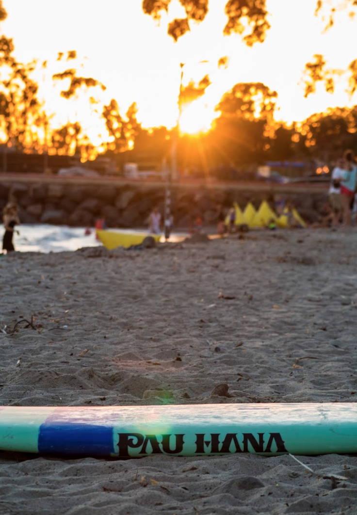 Doheney State Beach Park in Dana Point California featuring Pau Hana blue green carve surf sup