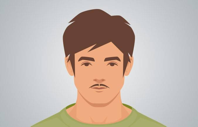 Mustache styles for young men