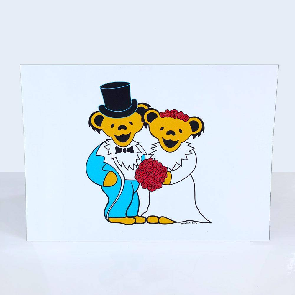 Grateful Dead Wedding Bears Card