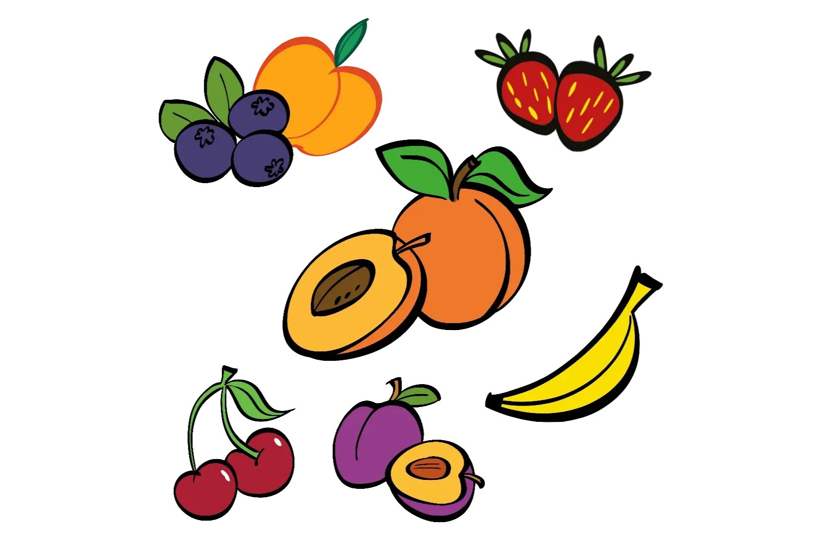 illustrated fruits