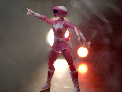 Watch Pink Ranger come to life in our model shop!