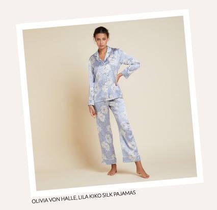 Olivia von Halle Lila Kiko Silk Pajamas