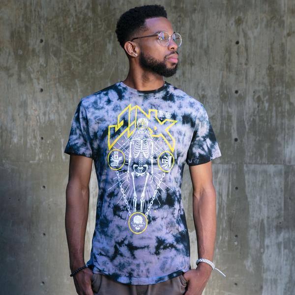 Image of a male model wearing a JINX shirt