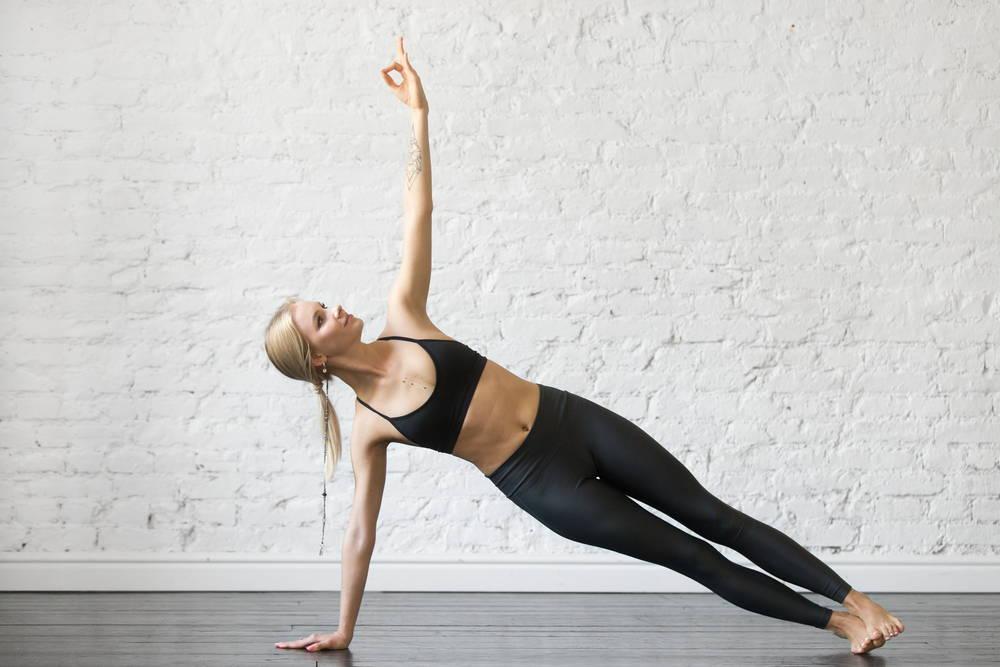 Side Plank Yoga pose strengthen core flat tummy